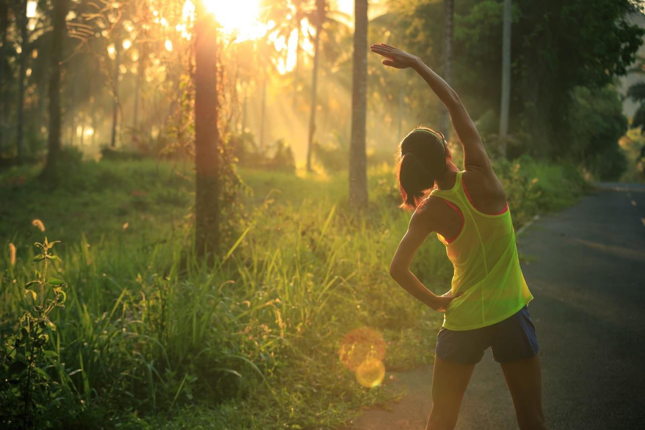 pessoa se exercitando